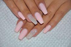 Matte baby pink nails
