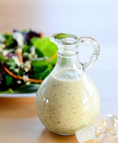 This is a low calorie creamy salad dressing, perfect for a chicken salad! 1 tbsp olive oil, 1/3 cup no fat greek yoghurt, juice of 1/2 a lemon, 1 tbsp seeded or Dijon mustard, salt and pepper to taste, whisk, and serve. Approximately 50 calories per serving. #healthy #light #dressing #lowcalorie #weightloss