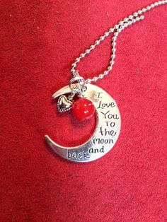I love you to the moon and back by RedChairGallery on Etsy