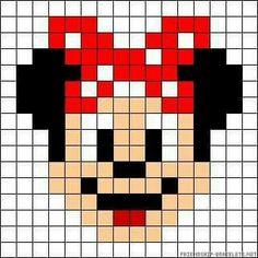 micky mouse minecraft pixel art