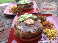 Ahi Tuna Burgers {with Avocado Aioli & Sriracha Mayo}   LemonyThyme.com   #burgers #grilling #bbq