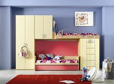 teen bedroom sets with desk | Best Home Teenage Bedroom with Bunk Beds and Loft Bedrooms by IMA ...