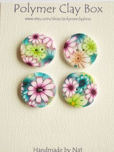 Millifiori Polymer Clay buttons by Nat on Etsy--Polymer Clay Box