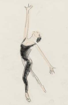 Dance Drawing of Mami by Julian Williams 5 July 2013