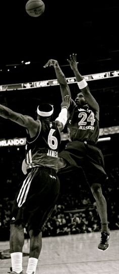 Kobe Bryant fades away over LeBron James Trap Music   Trap Music Definition http://www.slaughdaradio.com
