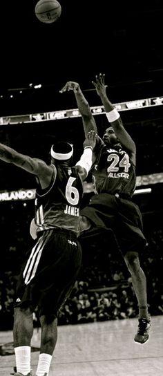 Kobe Bryant fades away over LeBron James