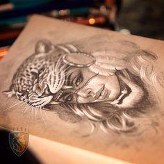 Jaguar girl. #ogabel #drawing