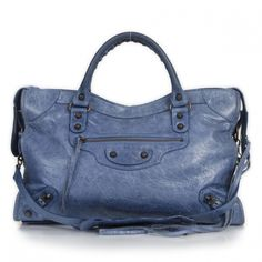 Fashionphile - BALENCIAGA Chevre City Cornflower Blue - StyleSays