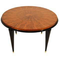 Art Deco Coffee Table in Walnut, Attributed to Jean Pascaud | From a unique collection of antique and modern coffee and cocktail tables at https://www.1stdibs.com/furniture/tables/coffee-tables-cocktail-tables/