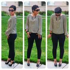 OOTD: Refashioned Top + Patent Leather Pants #DIY