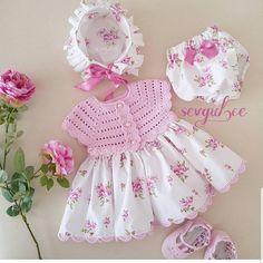 Am # @ ecemin_renklidunyasii # 👈👈 # 👆👆👆👆👆👆👆👆 # 🌺🌺🌺🌺🌺🌺🌺🌺🌺🌺🌺Selamün # aleyküm # share # cute # to our girls # this # cute # 👏 # # express … – kinder mode Crochet Baby Dress Pattern, Fabric Doll Pattern, Baby Girl Crochet, Crochet Baby Clothes, Baby Knitting Patterns, Crochet For Kids, Baby Doll Clothes, Doll Clothes Patterns, Dresses Kids Girl