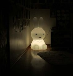 My Scottish Fold cat loves our MrMaria Miffy XL lamp, from Amsterdam! See the cute fat-face kitten with the bunny light here: http://www.lacarmina.com/blog/2013/07/miffy-lamp-mr-maria-kids-lighting-modern-design/    cute bunny lamps, kid's lighting