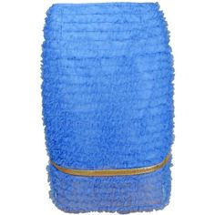 PLAKINGER - Embellished Tulle Skirt ($505) ❤ liked on Polyvore featuring skirts, frilly skirt, pleated skirt, ruffled tulle skirt, blue metallic skirt and ruffle skirt