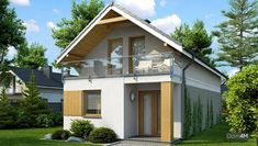 Proiect de casa eleganta care se poate construi pe un teren ingust Home Design Plans, Plan Design, Tiny Guest House, House Construction Plan, Driveway Design, Kerala Houses, Attic Rooms, Design Case, Home Fashion