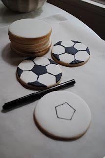 voetbal koekjes tutorial