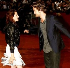 Robsten Dreams: Robsten Pic of the Day ~ So happy to see each other. -- Rome Film Fest, Oct 2008