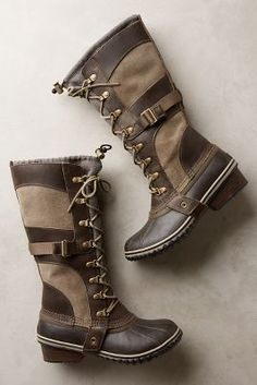 Sorel Conquest Carly Boots Brown Boots #anthrofave #anthropologie