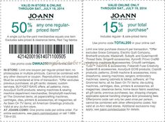joann fabrics coupon november 2019