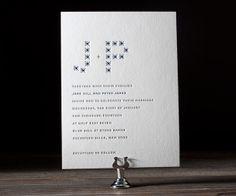 Modern Starlight letterpress wedding  invitation by Bella Figura. Customize yours with Paper Passionista.
