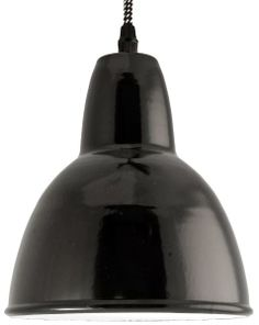 Enamel light / lamp - Emalivalaisin Kattovalaisin Riippuvalaisin, halk. 18 cm Musta - Domus Classica verkkokaupasta www.domusclassica.com
