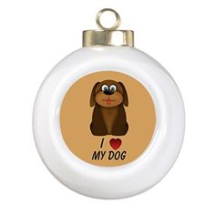 Fineal Bike Xmas Trees Decorated Cute Brown I Love My Dog Santa Decorations * Read more  at the image link.