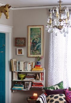 Give old thrift store art a facelift with reverse Stenciling (rubber cement and a stencil).
