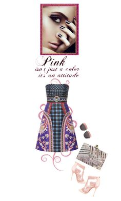 """""""Pink is an attitude!"""" by juliehooper ❤ liked on Polyvore featuring мода, Christian Dior, Jimmy Choo, Mary Katrantzou и Kelly Wearstler"""