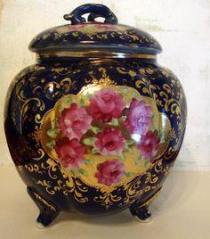Art Nouveau Cracker Biscuit Jar, 1920's Japan.