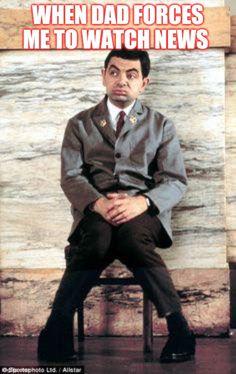 Make Mr Bean memes or upload your own images to make custom memes Mr Bean Quotes, Mr Bean Memes, Mr Bean Funny, Really Funny Memes, Funny Facts, Funny Jokes, Rowan Sebastian Atkinson, Bean The Movie, Mr. Bean