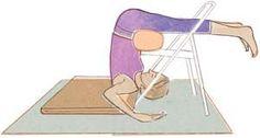 Ardha Halasana... relaxing, calming, restorative. Iyengar Yoga style.