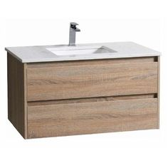 The Luxury Timber Finish WALL HUNG vanity gives the great look at a great price with Soft Closing Draws and Metal Runner which match your bathroom Bathroom Basin Units, Bathroom Floor Tiles, Laundry In Bathroom, Modern Bathroom, Vanity Bathroom, Bathroom Furniture, Bathroom Interior, Bathroom Warehouse, Timber Vanity