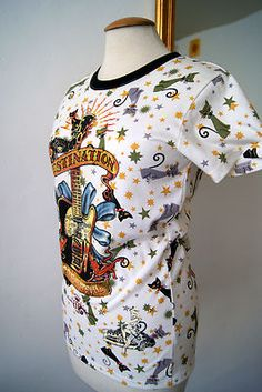"GREAT ROCKABILLY DITA BATTLE ROYALE ""DESTINATION"" T-SHIRT M AS NEW  EUR 0,99"