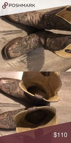 06ac10b58 Men's corral boots from the buckle. They are previously worn but are in  great shape