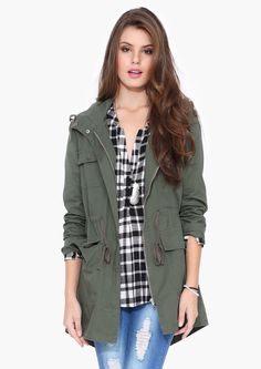 Warden Army Jacket in Olive | Necessary Clothing