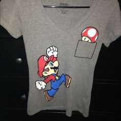 Mario shirt Size medium, super soft and comfy Super Mario Tops Tees - Short Sleeve