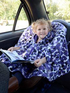 My No Sew Car Seat Poncho Tutorial