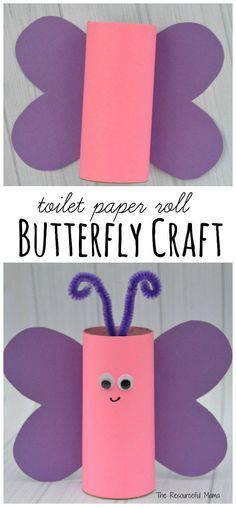 Toilet Paper Roll Crafts, Paper Crafts For Kids, Diy Crafts For Kids, Projects For Kids, Paper Crafting, Fun Crafts, Art For Kids, Craft Kids, Baby Crafts