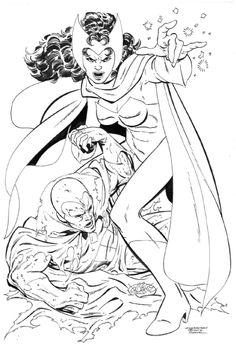 Scarlet Witch, Vision - John Byrne Comic Art