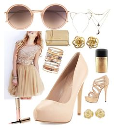 """""""90210- Naomi Clark"""" by star86amy on Polyvore featuring Linda Farrow, Charles by Charles David, Michael Kors, Ashley Pittman, Cara, Charlotte Russe, MAC Cosmetics, Effy Jewelry and By Terry"""