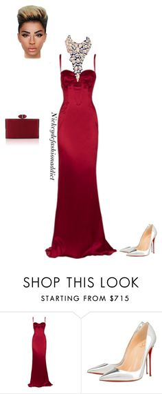 """""""Untitled #1763"""" by stylesbynickey ❤ liked on Polyvore featuring Dolce&Gabbana, Christian Louboutin and Judith Leiber"""