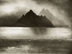 Research Norman Ackroyd I came across this work whilst searching for gloomy landscape paintings. Norman Ackroyd's prints instantly stood out as the darkest and most 'gloomy' of all of my research. Norman Ackroyd, Watercolor Landscape, Landscape Art, Cork City, Etching Prints, Chiaroscuro, Gravure, Print Artist, Light In The Dark