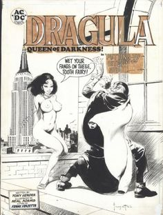 Here is a simply outstanding cover from a 1971 issue of National Lampoon by the late great Frank Frazetta. The titillating sexism, the bru...