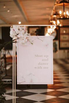 Shut Up And Dance With Me Wedding Sign | By People Truelove Tellers | Wedding Sign | Wedding Decor | Wedding Quotes | Wedding Flowers | Destination Wedding | Barcelona Wedding | Spain Wedding | Outdoor Wedding Rustic Wedding Signs, Wedding Signage, Decor Wedding, Diy Wedding, Wedding Flowers, Wedding Decorations, Wedding Day, Essense Of Australia Wedding Dresses, Shut Up And Dance