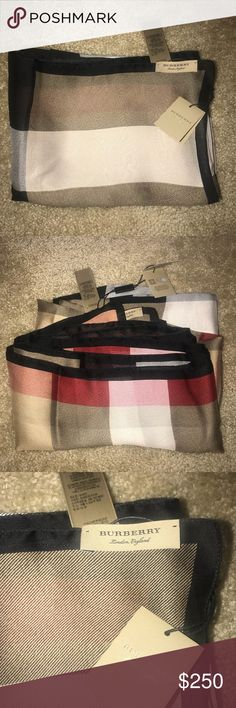 Burberry Scarf Brand new, never used, 190x70cm length. Burberry Accessories Scarves & Wraps