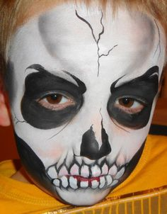 Princesses & Pirates Face Painting - Skull