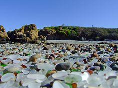 sea glass beach in Fort Bragg, California
