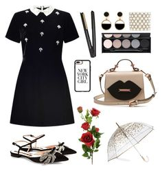"""""""Untitled #38"""" by martinadlc ❤ liked on Polyvore featuring Miss Selfridge, Rochas, ShedRain, Casetify, Warehouse, Kenneth Jay Lane, Witchery and GHD"""