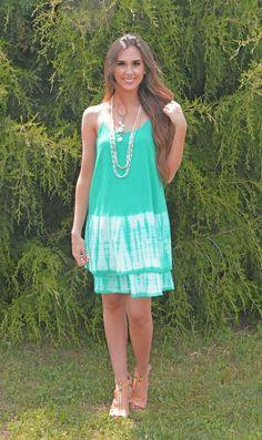 Coastline Cutie Tie-Dye Dress