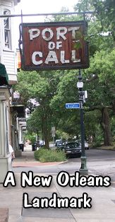Port of Call - New Orleans bar & grill landmark known for their char-grilled sautéed mushroom cheddar burger. There's always a line, get there early!
