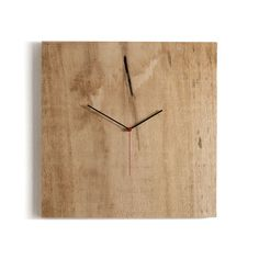 Check out what's on sale at TouchOfModern  Crude Wood clock by Pascal Tarabay